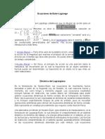 Ecuaciones de Euler-Lagrange