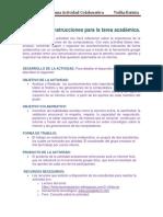 Estructura e Instrucciones Para La Tarea Académica