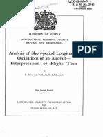 UK ARC - Analysis of Short Period Longitudinal Oscillations of an Aircraft