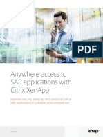 Anywhere Access to Sap Applications With Citrix Xenapp