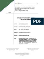 Primer Informe de Prácticas Pre-Profesionales