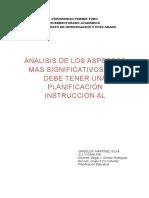 Analisis de Los ASpectos Planificacion Instruccional