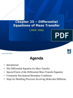 Chapter 25 - Differential Equations of Mass Transfer