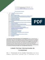 Normas Internacionales de Contabilidad