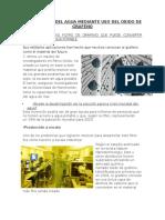 Purificacion Del Agua Mediante Uso Del Oxido de Grafeno