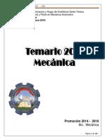 Temario de Mecánica Automotriz 2016