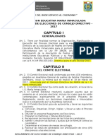 Reglamento de Elecciones de Consejo Directivo 2017