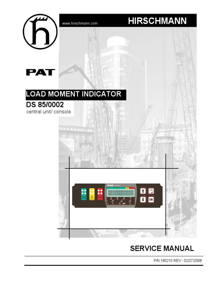 DS85 Service Manual | Cable | Sensor on