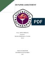 ENGLISH PAPER ASSIGNMENT / MAKALAH BAHASA INGGRIS