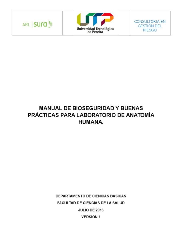 Manual de Bioseguridad y Buenas Practicas Para Laboratorio de ...