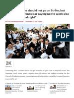 SC Says Lawyers Should Not Go on Strike; But Jethmalani Defends Bar
