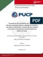 Menacho Carhuamaca Jaime Percepciones