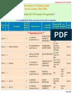Course Schedule Pr 201718 1
