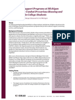 Establishing Support Programs at Michigan Universities to Combat Precarious Housing and Homelessness in College Students