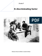 Eighth Discriminating Factor