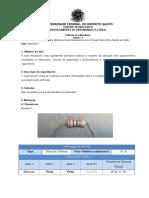 Relatório Resistores e Capacitores