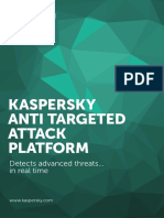 3). Kaspersky Anti Targeted Attack Platform DS