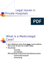 Medico Legal Issues in Private Hospitals