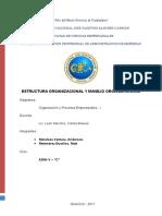 Estructura Organizacional y Manejo Organizacional