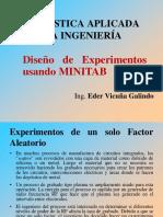 Diseño de Experimentos Usando Minitab
