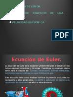 Ecuación de Euler, grado de reacción y velocidad específica.