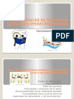 Guías Básicas de Protocolo Clínico en Operatoria Dental