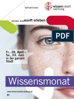 Programmheft Wissensmonat Mai Salzburg