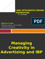 Advertising 9 Managing Creativity in Advertising and IBP