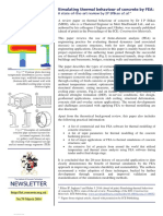 Simulation Thermal Behaviour of Concrete by FEA a STAR Review (ICT Newsletter)
