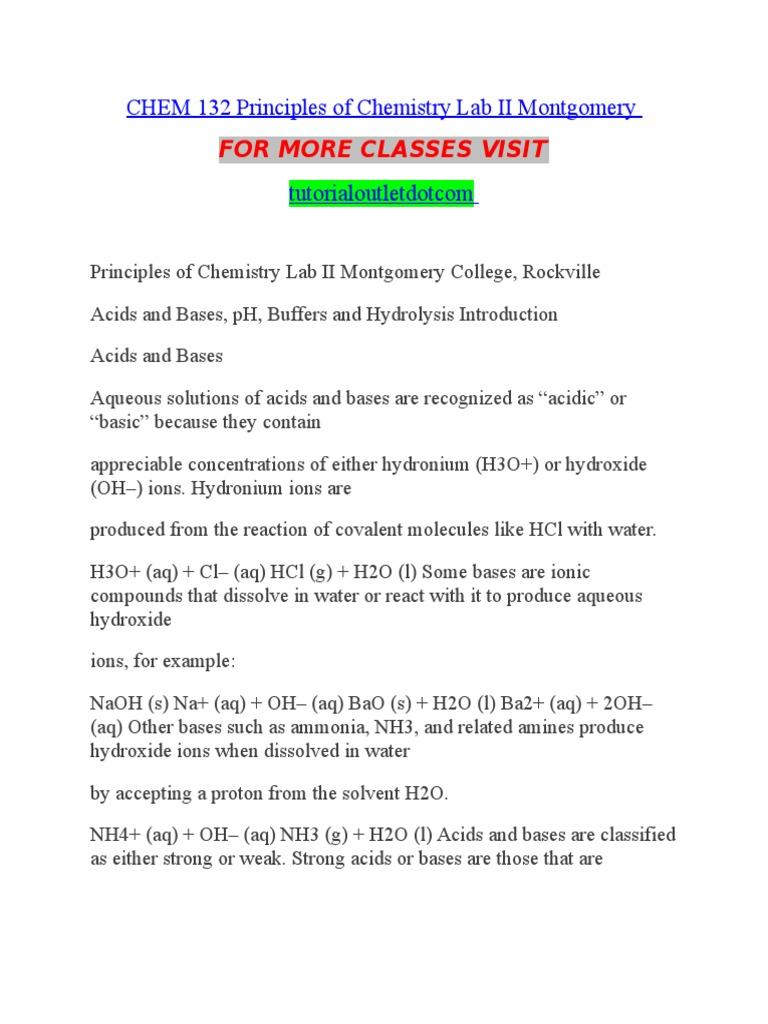GENERAL CHEMISTRY LABORATORY - CHEM 132