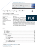 Biomass to Liquid Transportation Fuel via Fischer Tropsch Synthesis - Technology Review and Current Scenario