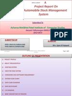 Automobile Stock Management System PATEL VIKAS M.pateL RIKIN R.