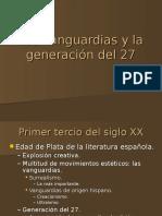 Las vanguardias y la generación del 27