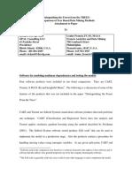 Addendum for Posting on Internet - Software in Comparison