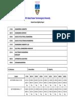 ALL Student Exam Eligibility