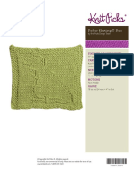 Knitted Dishcloth 2