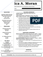 moran jessica teaching resume - alternate  website version