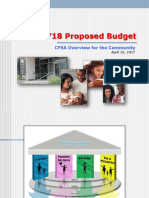 FY18 CFSA Budget Brief