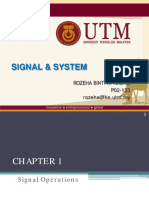 Chapter 1 Part 2 Signal Operation
