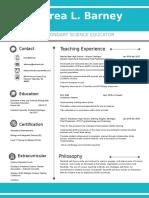resume - andrea barney 1
