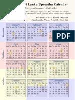 2017 Uposatha Calendars
