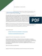 Agregar Información de Propiedad a Un Documento