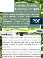 Aloe Vera Processing, Cultivation, Extraction, Formulations & Products (Thermal Burns, Anatomy of Aloe Vera Leaves, Sowing, Irrigation, Antimutagen of Aloe Plants, Aloe Vera & Gibberellin, Radiation, Burns & Frostbite, Herbal Remedies, Homogenization, Topical Compositions, Extract of Lavender, Herbal Formulations, Aloe Vera Gel Toothpaste, Aloe Gel and Powder, Aloe Vera gel eye drops)