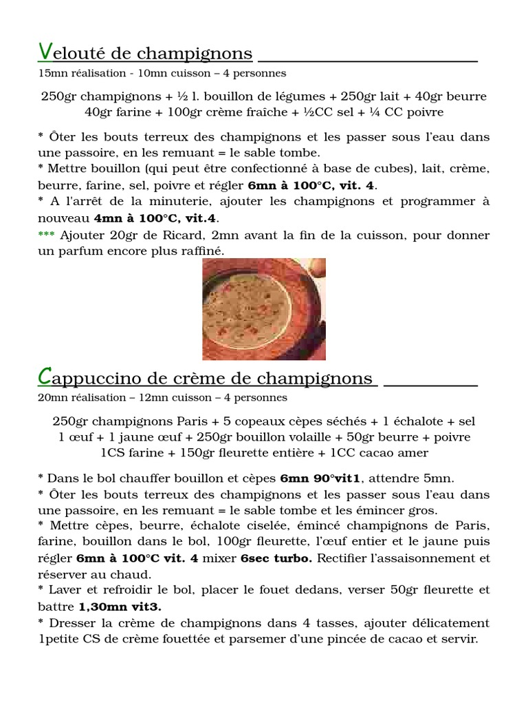Veloute Champignons Doc