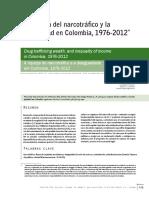 La Riqueza Del Narcotrafico y La Desgiqaldad en Colombia, 1976-2012