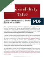 ¿Qué Es Dirty Talk_ El Arte de Hablar Sucio en La Cama