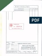 Ballast Water Management Plan Sequantal Method