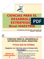 CIENCIAS PARA EL DESARROLLO ESTRATEGICO NIVEL MAESTRIA