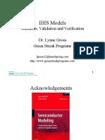 IBIS Models LynneGreen