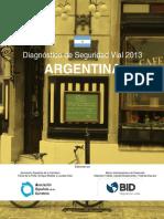 Diagnostico de Seguridad Vial 2013 Argentina